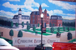 Chillicothe Business College mural by Kelly Poling