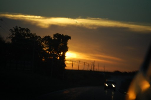 Sunset near Centralia, Missouri