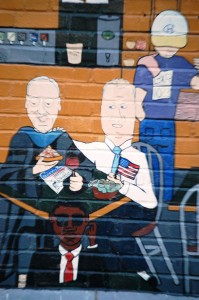 Politician and School Leader - portion of Shakespeare's wall mural - Columbia, MO