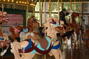 Riding the Carousel at Faust Park
