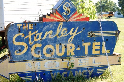 Stanley Cour-Tel Old Neon sign, originally from St. Louis, MO
