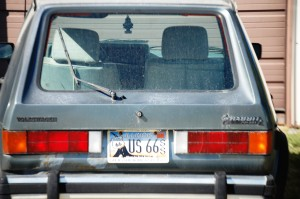 VW Rabbit with US 66 License Plate
