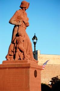 Madonna of the Trail Statue in Vandalia, IL