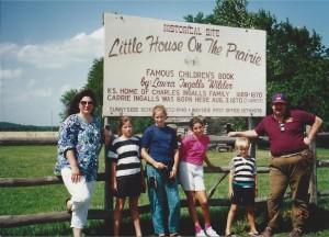 Family at Little House Site near Independence, Kansas  July 1993