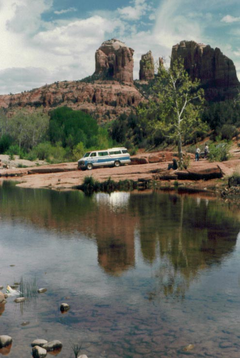 Being a Tour Guide with Nava-Hopi Tours at Cathedral Rock on Oak Creek in Sedona, AZ 1983