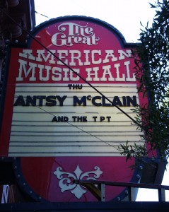 Great American Music Hall - San Francisco, CA
