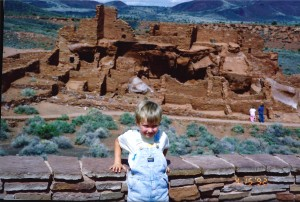 Seth at Wupatki National Monument in April 1992