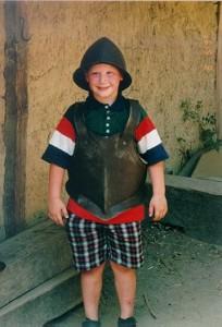 Solomon the soldier, in Jamestown August 1995