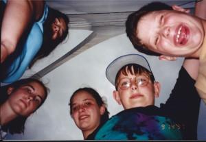 My children under the Arch on Sept. 14, 1997