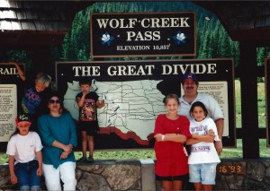 Wolf Creek Pass in Colorado....the Continental Divide, July 1993