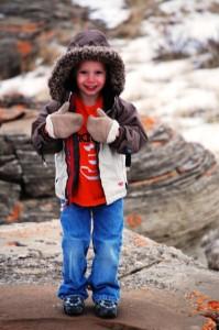 Charlie at Jerusalem Rocks in Northern Montana