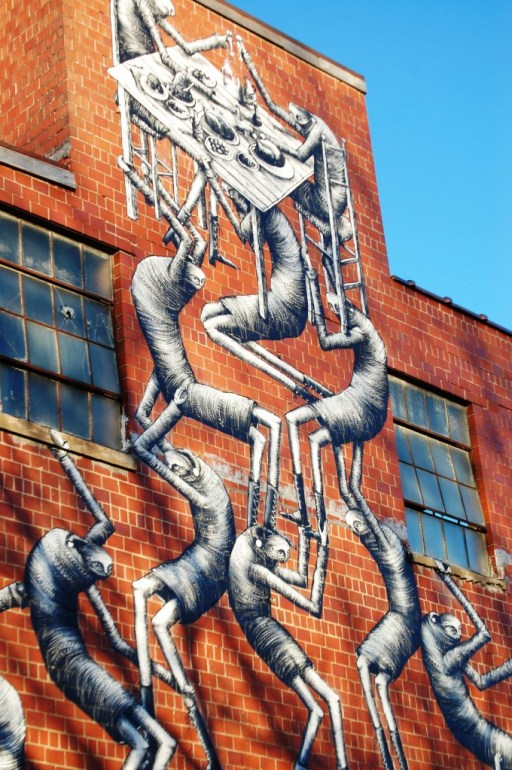 Phlegm Mural at Barrel House Distillery in Lexington, KY