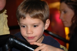 Grandson Kade at the Louisville Children's Museum - Dec. 2012