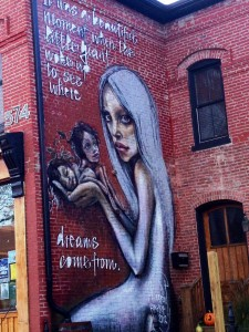 Where Dreams Come From by HERAKUT in Downtown Lexington, KY