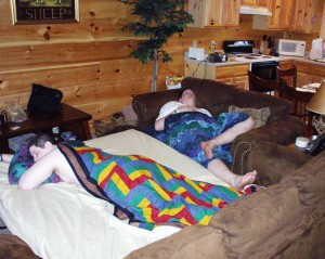 Seth and Solomon crashed at a cabin in Gatlinburg, TN May 2005