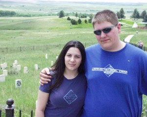 Marissa and Seth's Last Stand at the location whereGeorge Custer is buried at Little Big Horn National Monument, Montana June 2005