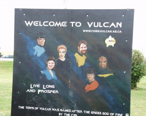Solomon and Sumoflam become part of the Star Trek gang in Vulcan, Alberta Sept 2007