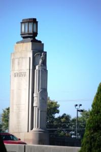 Big Entry Pillar on Indiana side of Clark Memorial Bridge