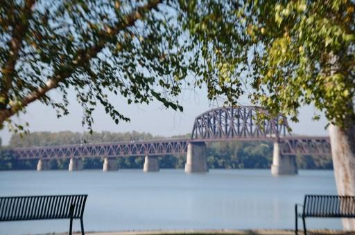 The Fourteenth Street Bridge - a railroad bridge crossing the Ohio River