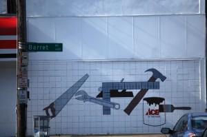 Took mural on Ace Hardware store near Bardstown Road in Louisville