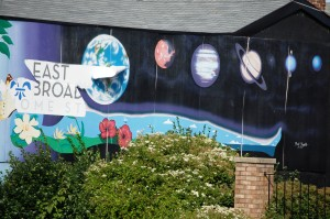Planets mural