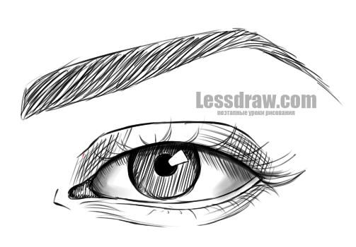 Wie Zeichnet Man Ein Mannliches Auge In Etappen Wie Die Augen Der