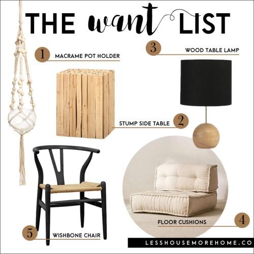 the want list | organic
