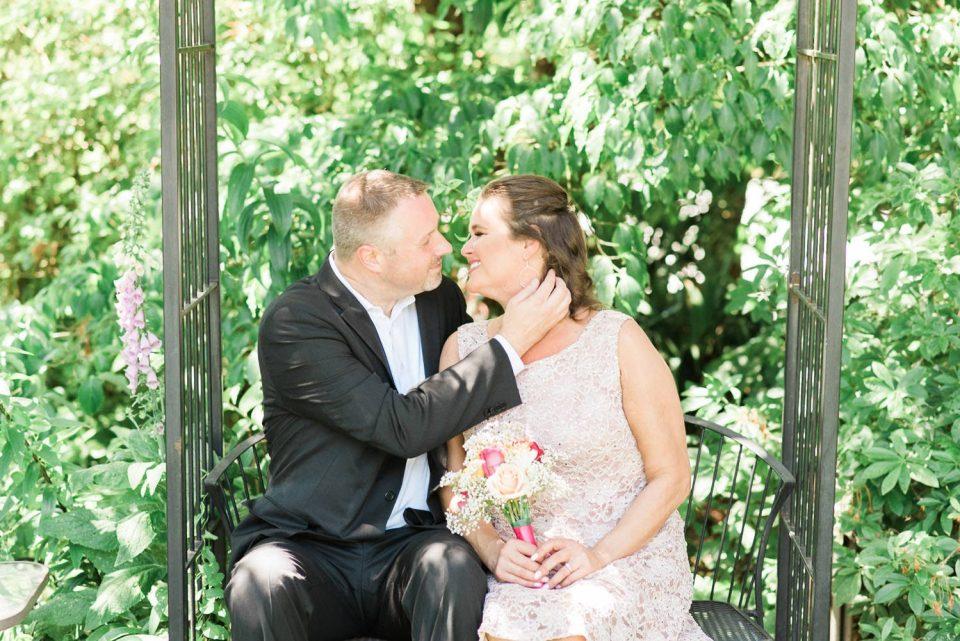 Kissing Bride in Ear
