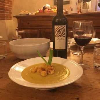 Tuscany Meal with Wine