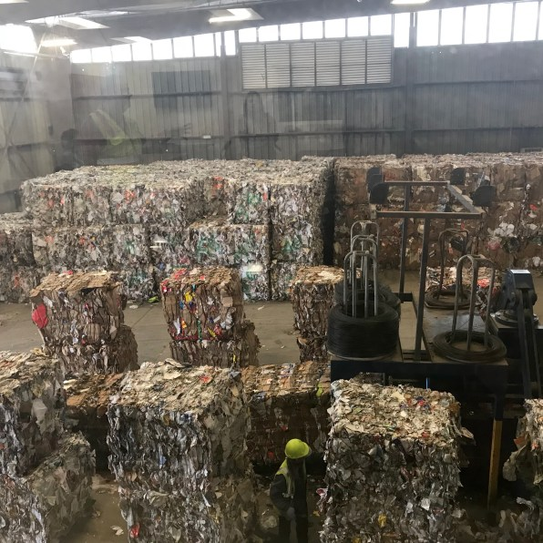 And more bales of recycled paper. These are then sold to companies that utilize recycled materials.