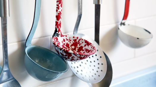 Photograph of cooking utensils.