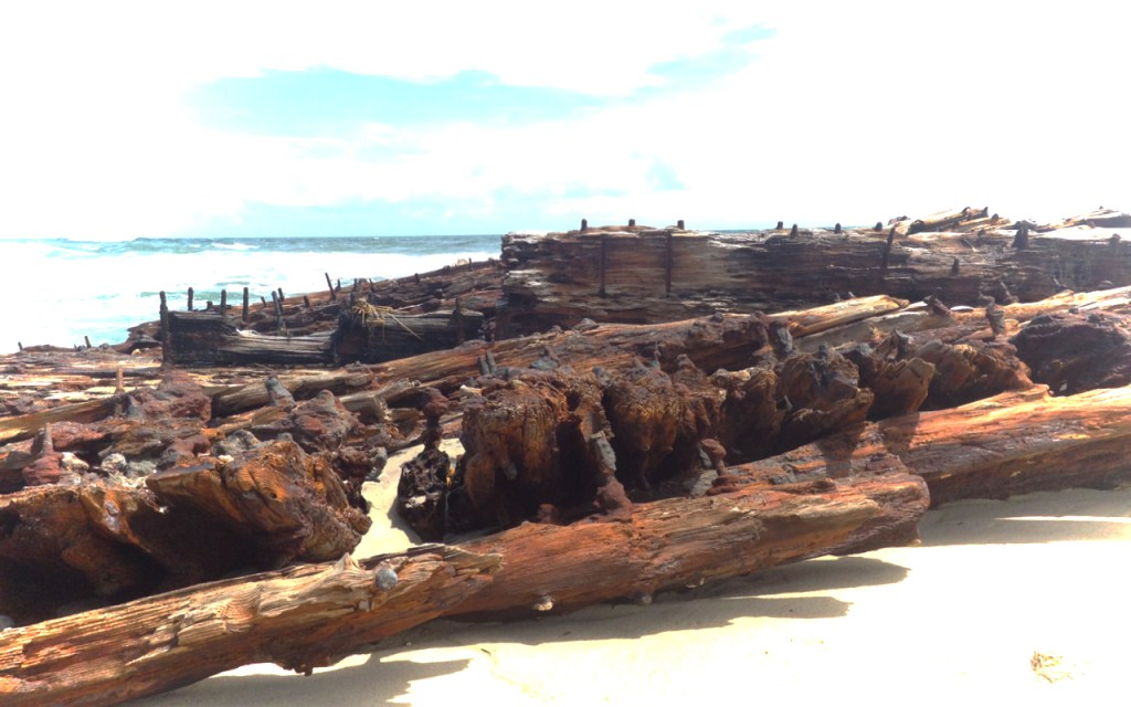 Remnants of the ship G.A. Kohler, driven ashore by a 1933 storm