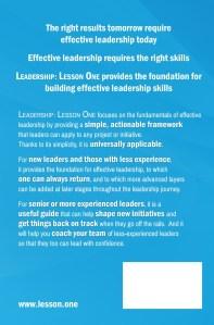 Leadership: Lesson One