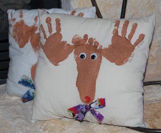 Christmas reindeer pillows
