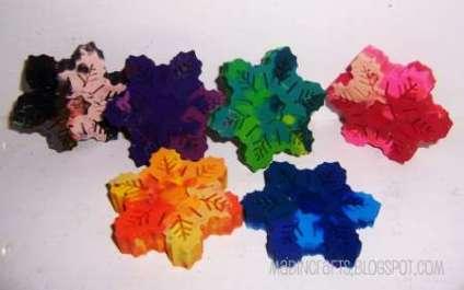 snowflake crayon