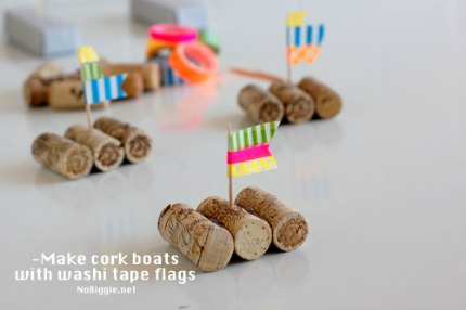 Cork Boat Races {Kid Craft}