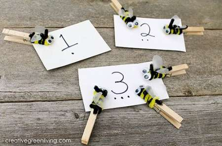 Bee Theme Number Matching Game