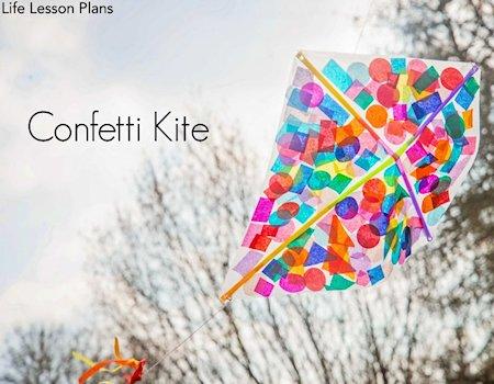 Contact Paper Confetti Kite