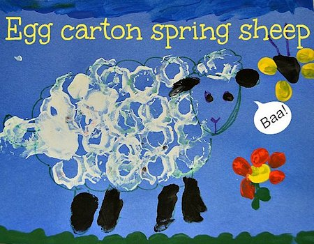 Egg Carton Sheep Craft