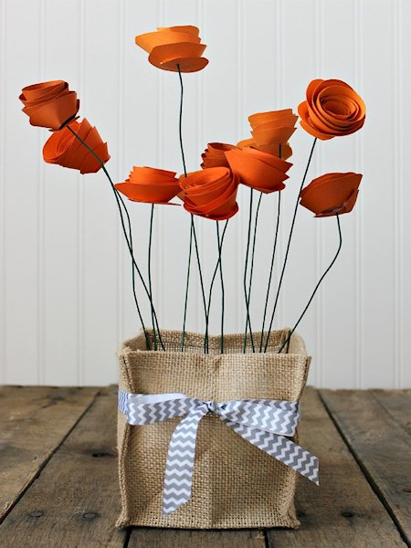 Pretty Paper Flower Centerpiece