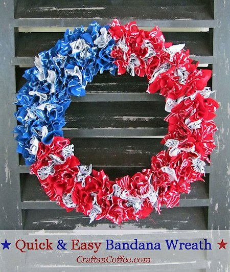 Easy Patriotic Wreath