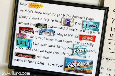 Father's Day Candy Bar Poster to Print