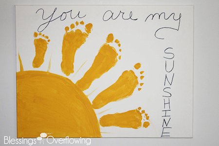 Awesome You Are My Sunshine Footprint Art