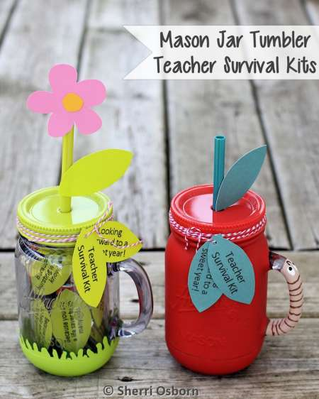 Mason Jar Tumbler Teacher's Gifts