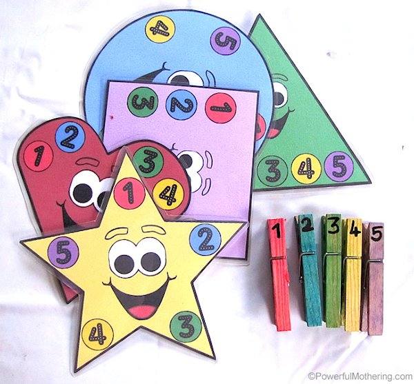 Shapes, Counting and Colors Busy Bag