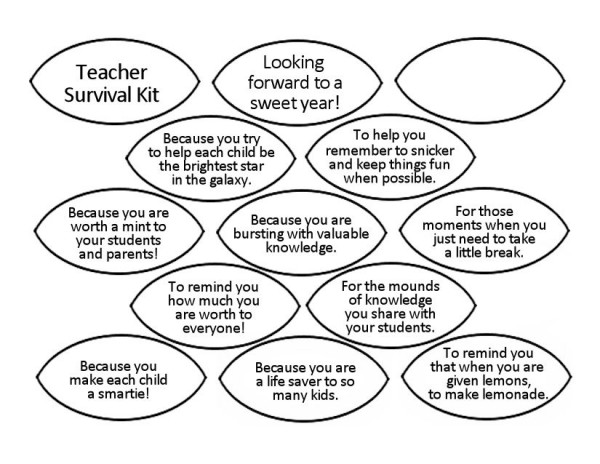 Teacher Survival Kit Leaves