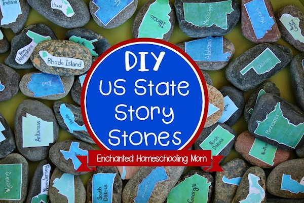 DIY US State Story Stones
