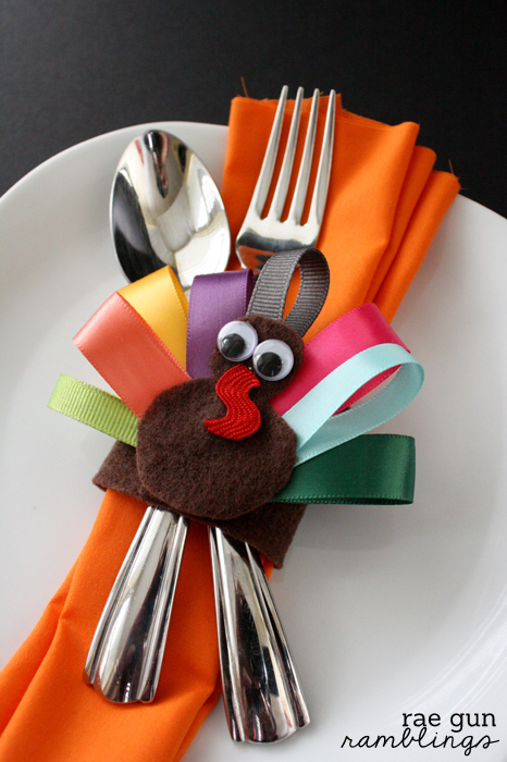 Ribbon Turkey Napkin Rings