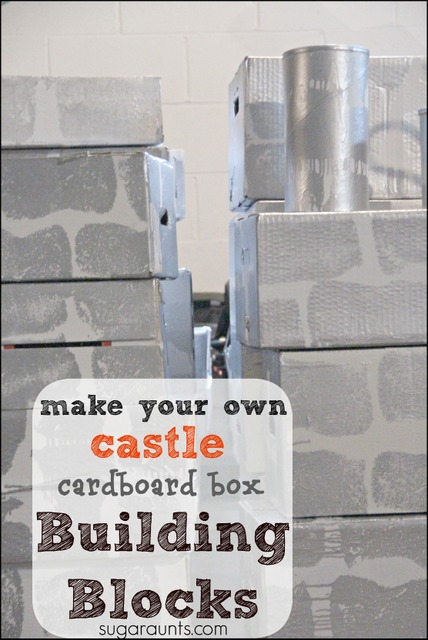 DIY Castle Cardboard Blocks