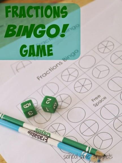 Fractions BINGO Game